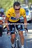 Lance Armstrong at Plateau de Beille in the 2002 Tour de France