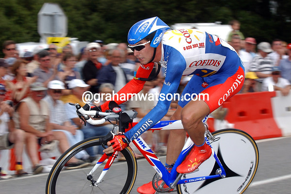 David Millar in a time trial during the 2002 Tour de France