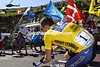 Lance Armstrong at Plateau de Beille in the 2002 Tour de France
