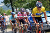 Lance Armstrong leads Joseba Beloki in the 2003 Tour de France