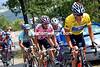 Lance Armstrong leads Joseba Beloki in the 2003 Tour de France