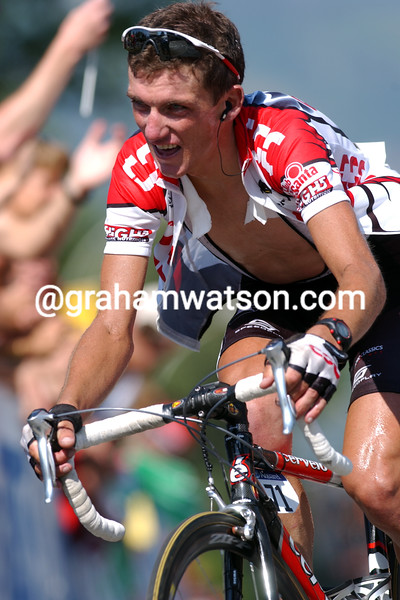 Tyler Hamilton in the 2003 Tour de France