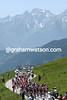 The 2004 Tour de France climbs the Col de la Madeleine