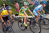 Lance Armstrong with Floyd Landis and Levi Leipheimer in the 2005 Tour de France