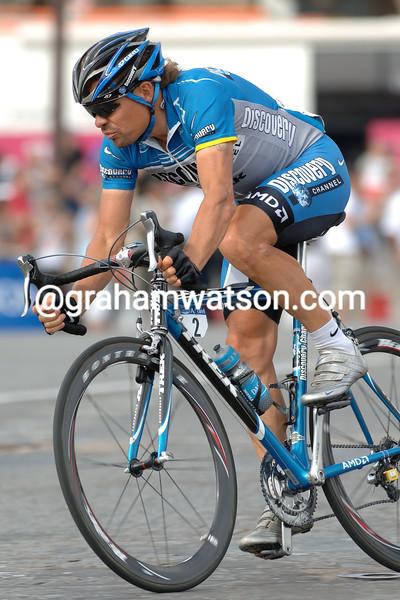 Viatcheslav Ekimov on the final stage of the 2006 Tour de France