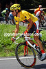 Oscar Pereiro wears the Yellow Jersey on stage 17 of the 2006 Tour de France