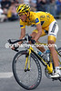 Alberto Contador on the final stage of the 2007 Tour de France