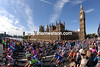 Stage one of the 2007 Tour de France passes Big Ben and the Houses of Parliament in the centre of London