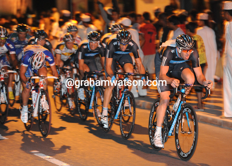 Sky are led by Ian Stannard in a nighttime stage of the Tour of Oman