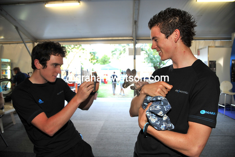 BEN SWIFT AND GERAINT THOMAS BEFORE THE 2011 TOUR DOWN UNDER
