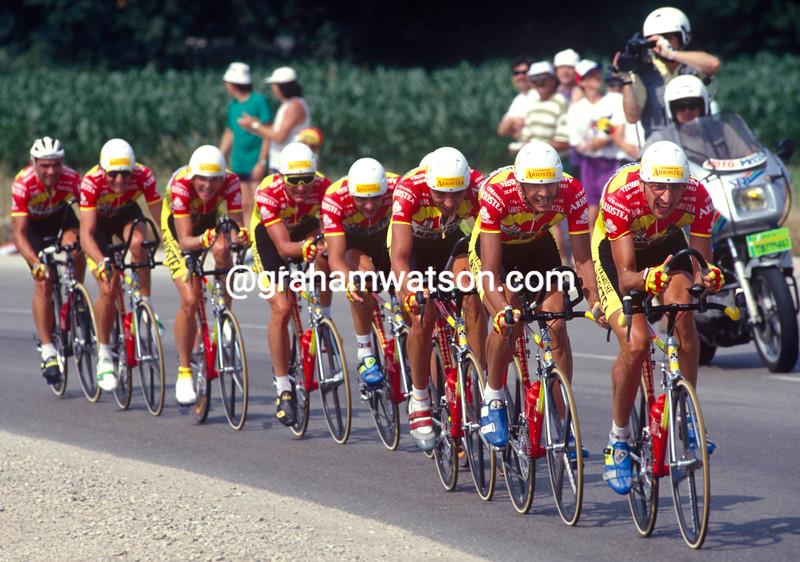 The Ariostea team in the 1993 Tour de France