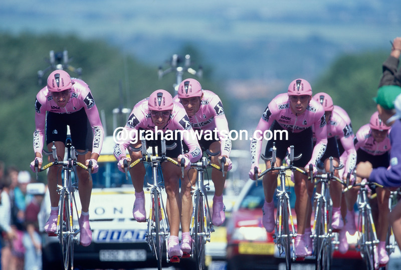 The ONCE team in the 1994 Tour de France