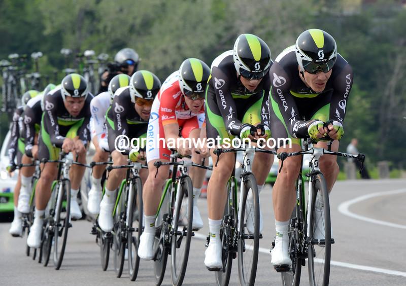 Green Edge on stage four of the 2012 Giro d'Italia