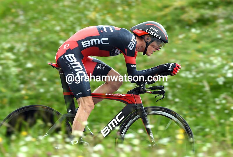 Tejay Van Garderen on stage 8 of the 2016 Tour de Suisse