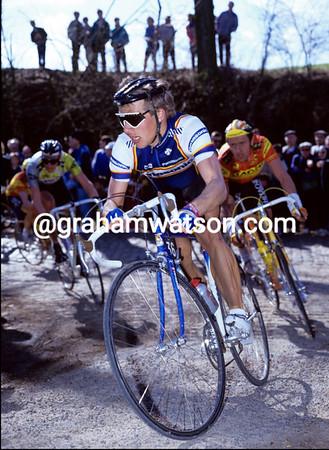 TEUN VAN VLIET IN THE 1987 TOUR OF FLANDERS