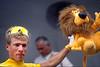 Teun Van Vliet on a stage of the 1990 Tour de France