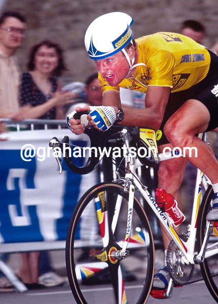 Thierry Marie in the Prologue of the 1991 Tour de France