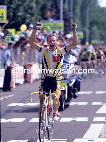 Thierry Marie wins a stage of the 1989 Tour de France