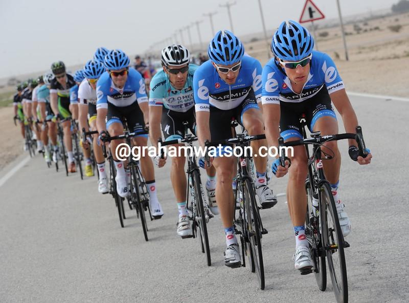 Thomas Dekker on stage three of the 2012 Tour of Qatar