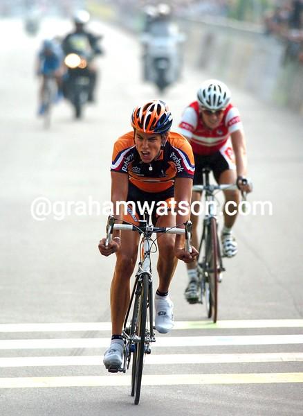 Thomas Dekker in the 2004 World Championships