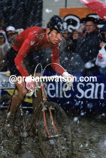 Thomas Frischknecht in the 1988 Junior Word Cyclo-Cross Championship