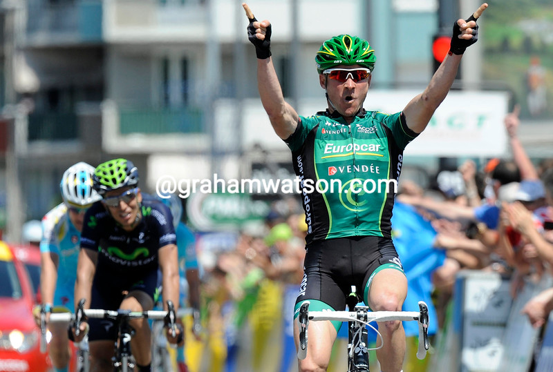 Thomas Voeckler wins on stage six of the 2013 Dauphine-LIbere