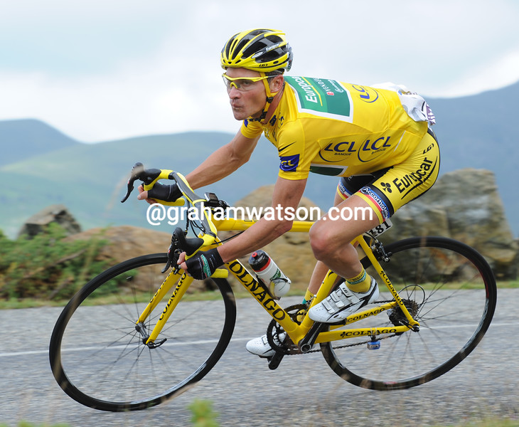 THOMAS VOECKLER ON STAGE FOURTEEN OF THE 2011 TOUR DE FRANCE