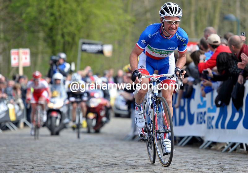 THOMAS VOECKLER IN THE 2011 GHENT WEVELGEM RACE