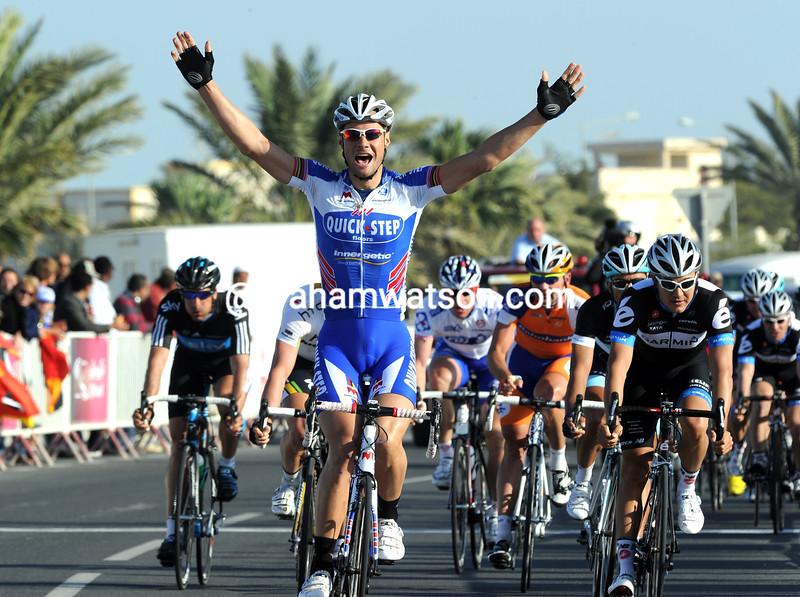 TOM BOONEN IN STAGE ONE OF THE 2011 TOUR OF QATAR