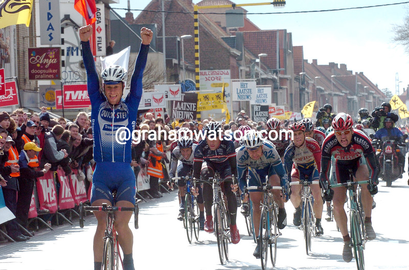TOM BOONEN WINS THE 2004 GHENT-WEVELGEM