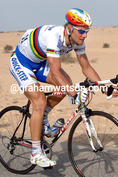 TOM BOONEN ON STAGE ONE OF THE 2006 TOUR OF QATAR