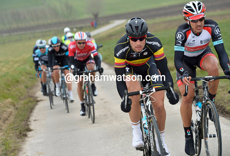 Tom Boonen and Fabian Cancellara in the 2013 E3 Harelbeke