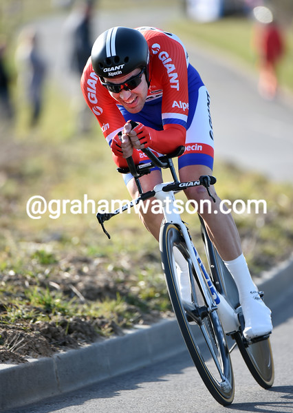 Tom Dumoulin in the Prologue of the 2015 Paris-Nice