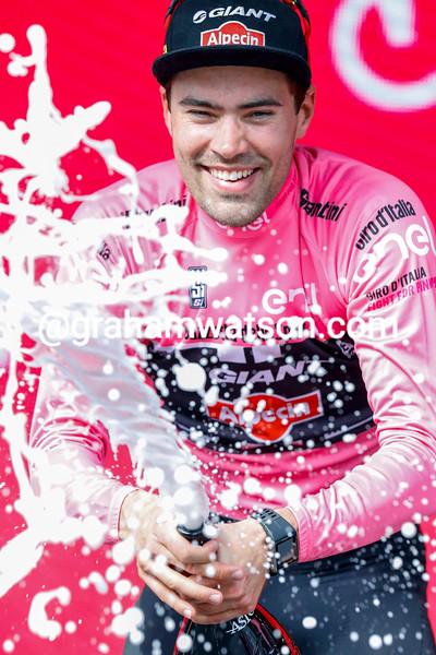 Tom Dumoulin on stage seven of the 2016 Giro d'Italia