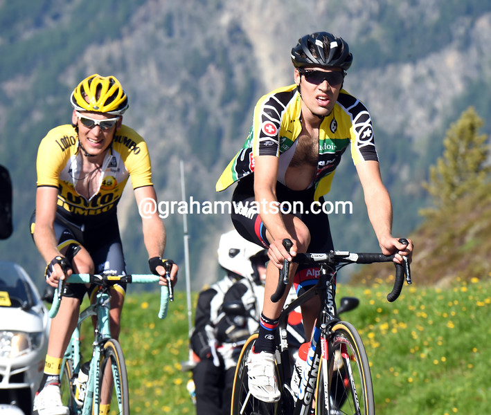 Tom Dumoulin on stage five of the 2015 Tour de Suisse