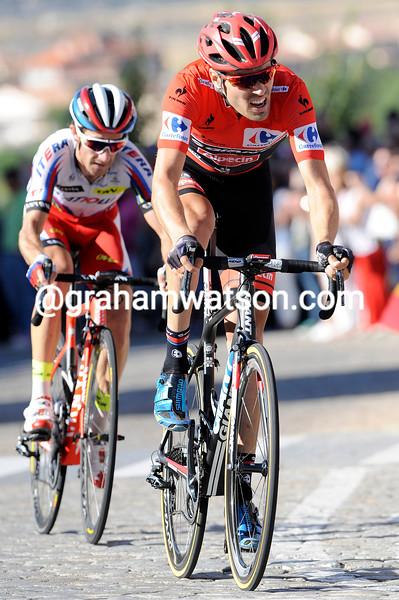 Tom Dumoulin on stage nineteen of the 2015 Tour of Spain