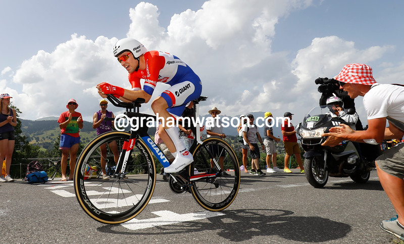 Tom Dumoulin on stage 18 of the 2016 Tour de France