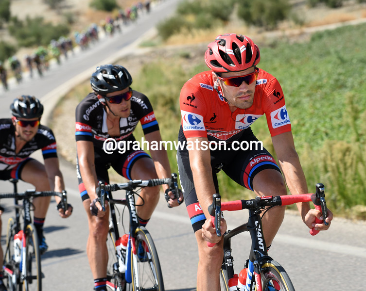 Tom Dumoulin on stage six of the 2015 Tour of Spain