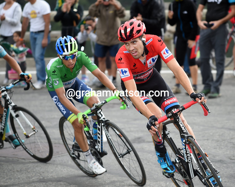 Tom Dumoulin on stage eleven of the 2015 Tour of Spain