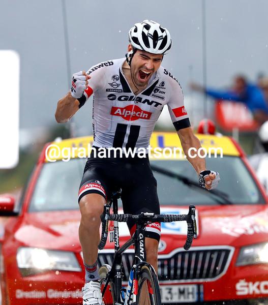 Tom Dumoulin wins stage 9 of the 2016 Tour de France