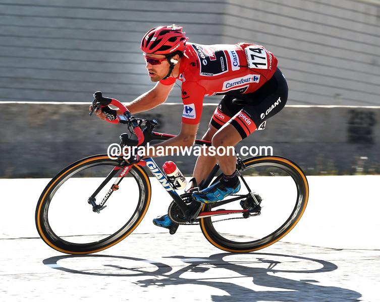 Tom Dumoulin on stage twenty of the 2015 Tour of Spain