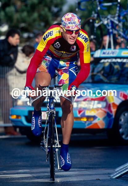 Tom Steels in the 1998 Paris-Nice prologue TT
