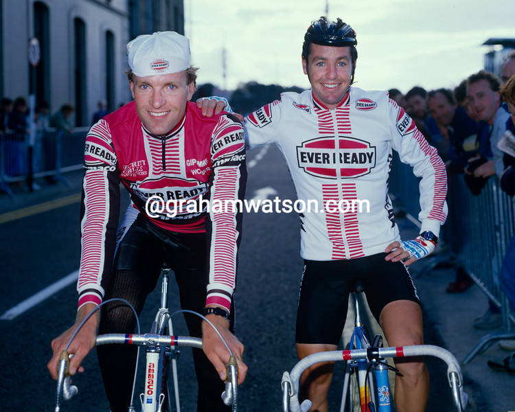 Stephen Roche and Tony Doyle in the 1986 Nissan Classic