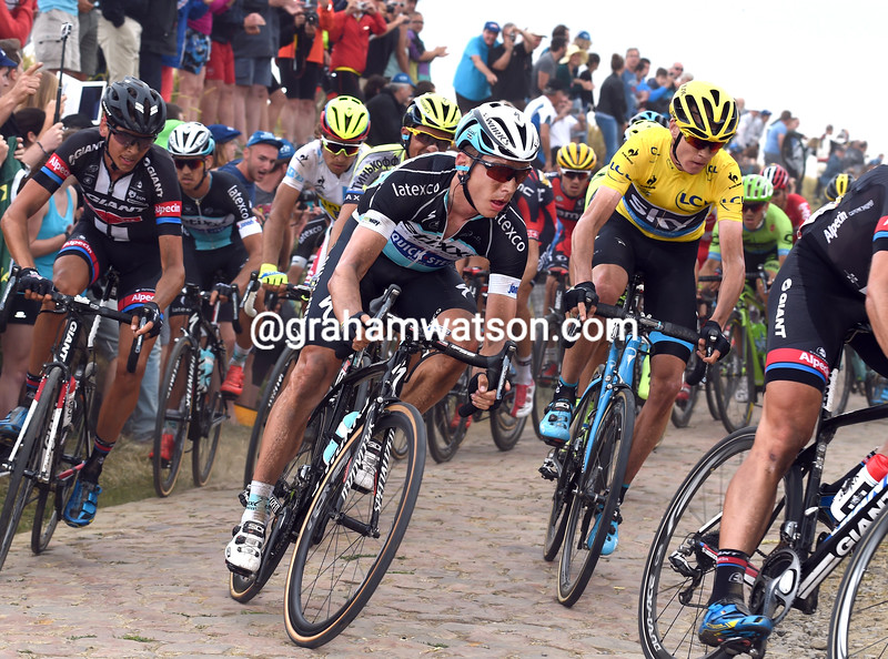 Tony Martin and Chris Froome on stage four of the 2015 Tour de France