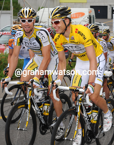 TONY MARTIN AND BERNARD EISEL IN THE 2010 TOUR OF SWITZERLAND
