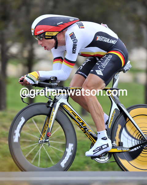 TONY MARTIN IN THE 2010 WORLD ROAD TIME TRIAL CHAMPIONSHIPS
