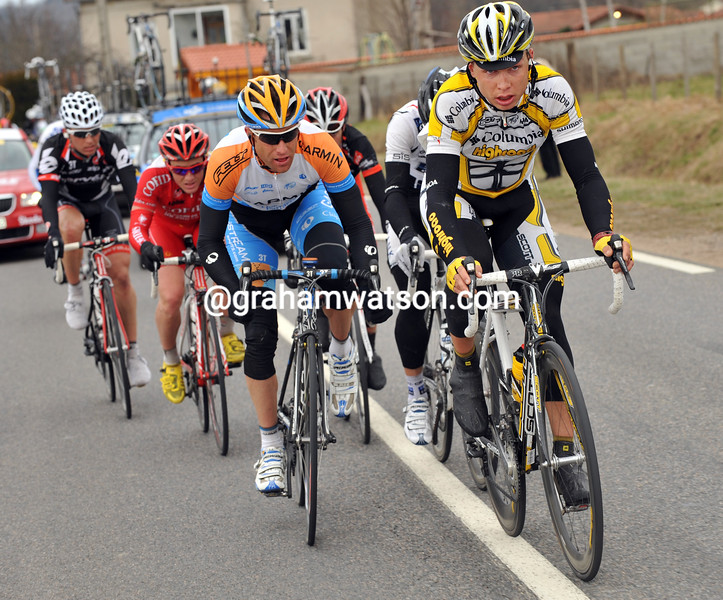 TONY MARTIN AND CHRISTIAN VANDE VELDE LEADS AN ESCAPE ON STAGE FOUR OF THE 2009 PARIS-NICE