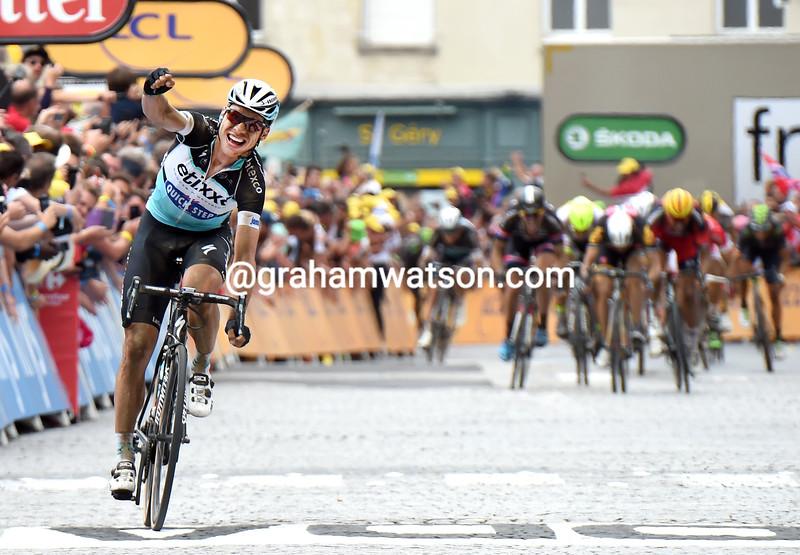 Tony Martin wins stage four of the 2015 Tour de France