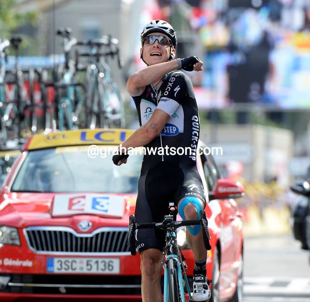Tony Martin wins stage nine of the 2014 Tour de FRance