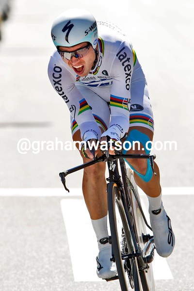 Tony Martin on stage ten of the 2014 Tour of Spain